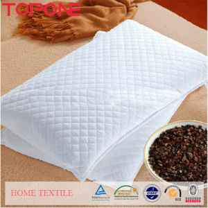 Pure White Plain Natural Buckwheat Foam Pillows (T75) pictures & photos