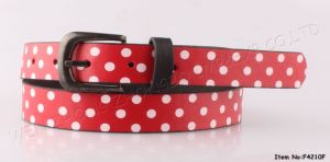 2016 DOT Print Leather Belt for Lady pictures & photos