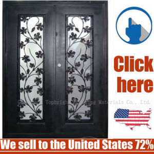 Cheap Price Metal Steel Security Wrought Iron Door pictures & photos