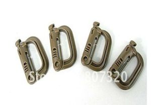 Grimloc D-Ring Locking Molle Carabiner 4PCS Pack Brown X9108