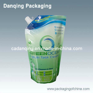 Plastic Packaging Stand up Drink Pouch with Spout at Corner pictures & photos