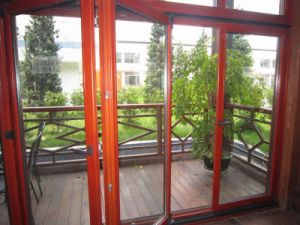 Popular Wood/Timber Folding Door (TS-316) pictures & photos