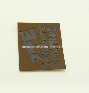 Jean Logo Leather Label Custom Logo Embossed Faux Leather Label Jeans Leather Patch pictures & photos