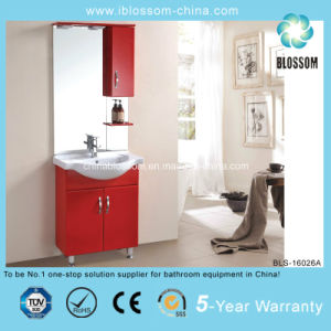 China Red Color 15mm PVC Board Bathroom Cabinet (BLS-16026A) pictures & photos