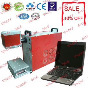 Portable Fiber Laser Marking Machine on Mirror pictures & photos