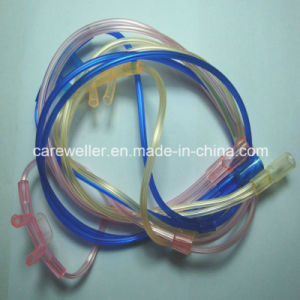 Colored Two Bore Nasal Oxygen Cannula pictures & photos