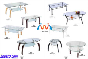 Rectangular/Oval/Round Dining Table Glass Top pictures & photos