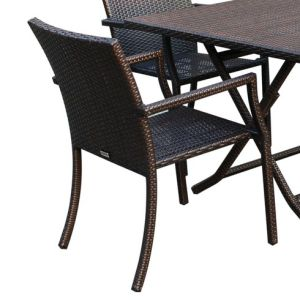 Well Furnir WF-17027 Rattan 5 Piece Dining Set pictures & photos