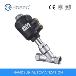 Pneumatic Control Plastic Actuator Angle Seat Valve pictures & photos