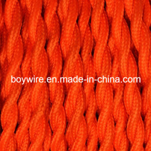 Orange 2 Core Electrical Braided Cable pictures & photos