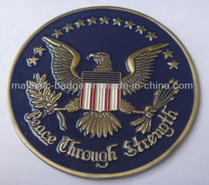 3D Gold Plating Military Coin pictures & photos