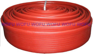 "Natural Rubber 1""*30m Red Color Fire Hose pictures & photos"