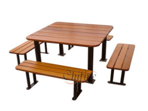 Polyresin and Steel Picnic Table Bench pictures & photos