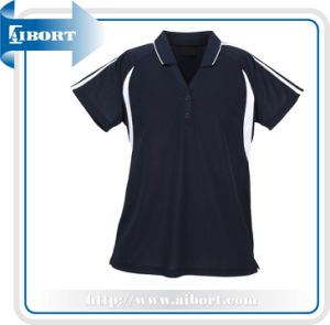 Black Polo Shirt with Self Logo Design (ATPL-0190)
