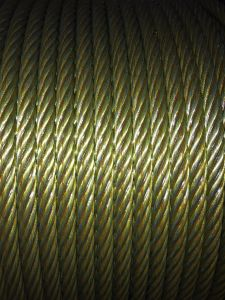 Galvanized Steel Wire Rope 6X36sw+Iwrc with Yellow Grease pictures & photos