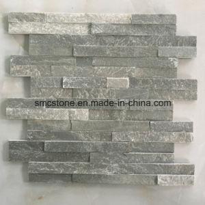 10*40cm Slim Green Slate Stone Veneer (HHSC10X40-001) pictures & photos