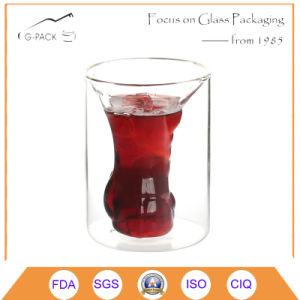 Wholesale Double Wall Couple Shot Drinking Glass Cup pictures & photos