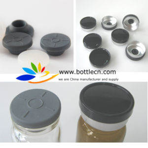 Black Aluminium Plastic Flip Caps Crimps 20mm Plain with Stoppers