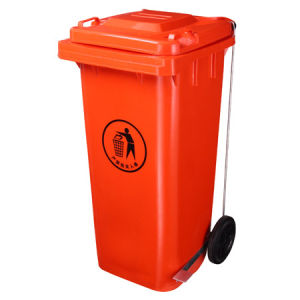 120L Pedal Plastic Dustbin / Trash Can pictures & photos