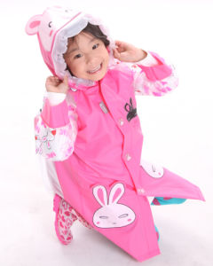 Cute Kids Rabbit PVC Raincoat
