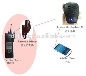 Bluetooth Ptt Microphone for Two Way Radios (BTH-003)