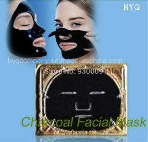 Charcoal Series Collagen Crystal Face Mask Anti-Aging & Whitening & Moisturizing Facial Black Mask pictures & photos