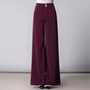 High Waist Plus Size Palazzo Casual Bell Bottom Trousers pictures & photos