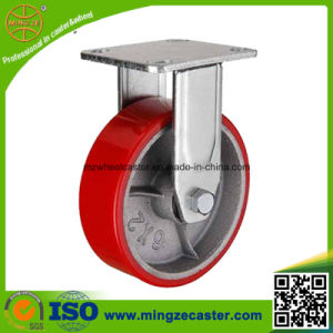 Medium Heavy Duty Red PU Wheels Caster pictures & photos