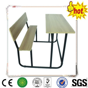 Double Student Desk and Chair/Wooden School Classroom Furniture