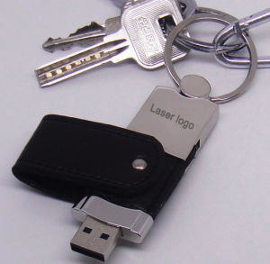 Leather Key Chain USB Flash Drive pictures & photos