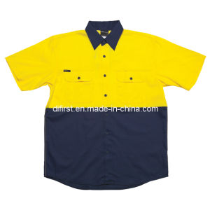 High Visibility Short Sleeve Workwear (without reflective tape) pictures & photos