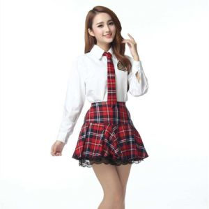 Middle School Uniform with Skirt for Girls pictures & photos
