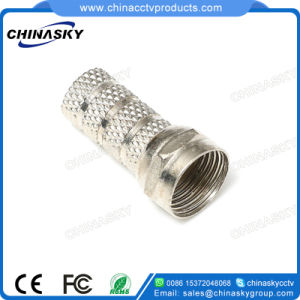 Twist-on CCTV Male Coaxial Cable F Connector (CT5076) pictures & photos