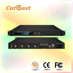 4 CH Asi Input and RF Input with DVB-T Support Sfn Modulator pictures & photos