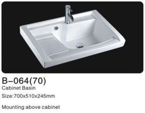 Bathroom Ceramic Cabinet Washsinks, Ceramic Cabinet Basin pictures & photos
