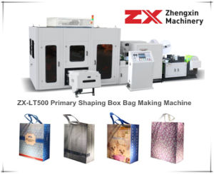 Non Woven Bag Making Machine for Box Bag (ZX-LT500) pictures & photos