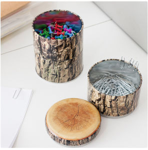 Wood Grain Tins Three-Layer Cans pictures & photos
