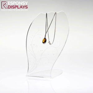 Factory Price Clear Acrylig Irregularity Necklace Display in Noble Look pictures & photos