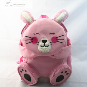 Girls Cute Pink Rabbit Backpack pictures & photos