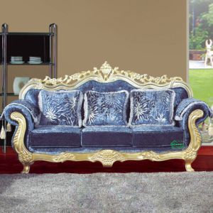 Wood Sofa Set with Corner Table for Home Furniture (929B) pictures & photos