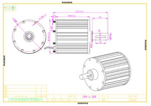 1kw 48V Axial Flux Permanent Magnet Motor Generator pictures & photos