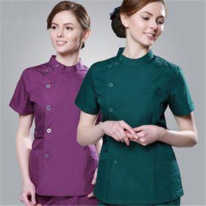 2017 Cheap Summer Women Hospital Medical Scrub Clothes Set Sale Design Slim Fit Dental Scrubs Beauty Salon Nurse Uniform pictures & photos