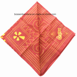 China Factory Produce Custom Paisley Print Cotton Headwrap Bandanna pictures & photos