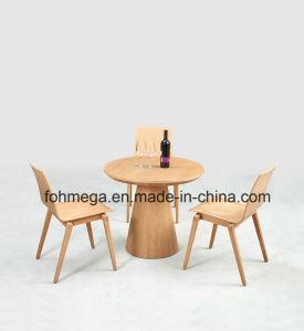 Factory Directly Wood Round Cafe Table with Chairs pictures & photos