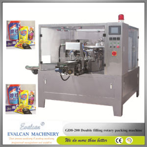 Automatic Wheatgrass Powder Rotary Packing Machine with Auger Filler pictures & photos