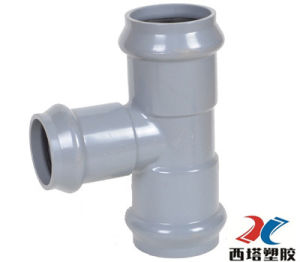 Hot Sale PVC Three Faucet Reducing Tee pictures & photos