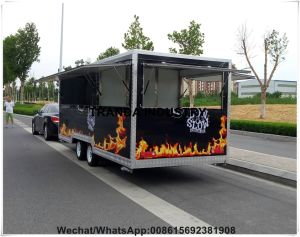 Traveling Food Caravan with Sliding Windows Electric Heated Food Mobile Cart Cooling Mobile Van pictures & photos