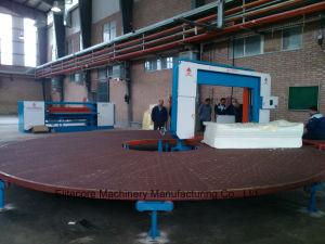 Automatic Carrousel Circular Foam Polyurethane Sponge Cutting Machine pictures & photos