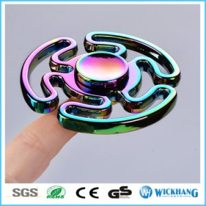 Aluminium Hand Tri-Spinner Fidget EDC Focus Finger Toy Alloy for Autism Adhd pictures & photos