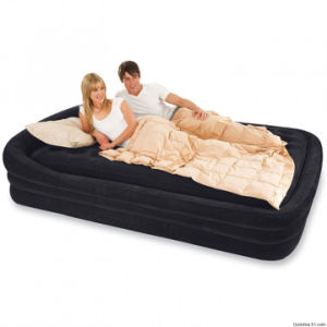 Folding Flocked Chair Air Bed / Inflatable Airbed /Flocked Air Bed pictures & photos